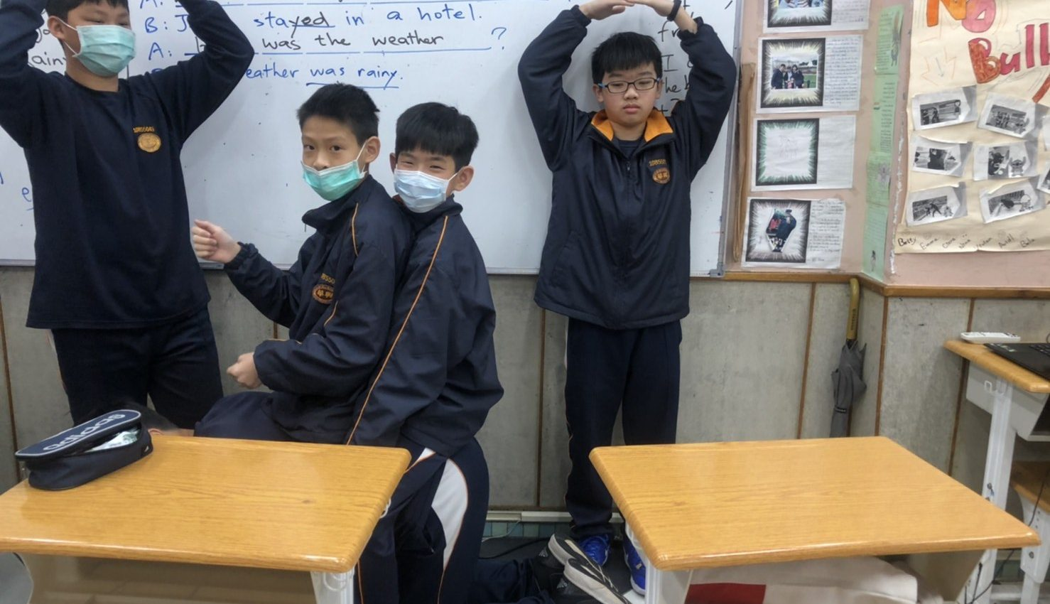Students in Taiwan as some parts of life go back to some 'normal' ways Photo: Jojo  Tang