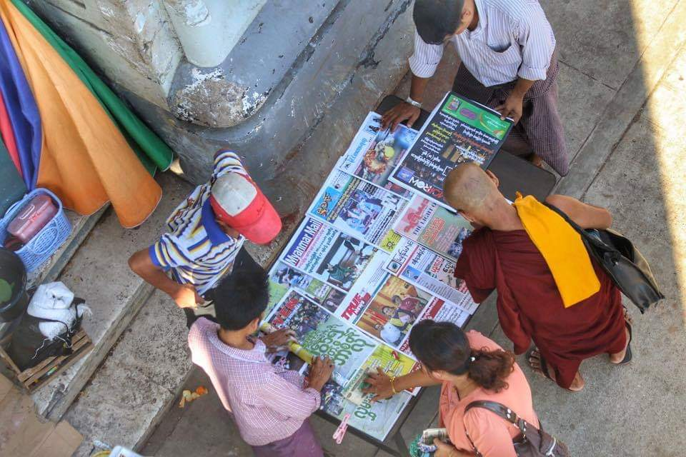 A lot of media, but few independent reports on the Rakhine crisis. Photo: Wai Yan