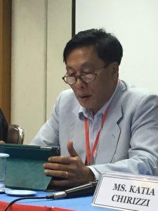 Yong Chantalangsy minces no words at the Bangkok meeting of civil society groups. Picture: Johanna Son
