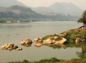 Where the Mekong meets the Namkhan River in Luang Prabang, Laos. Photo: Johanna Son